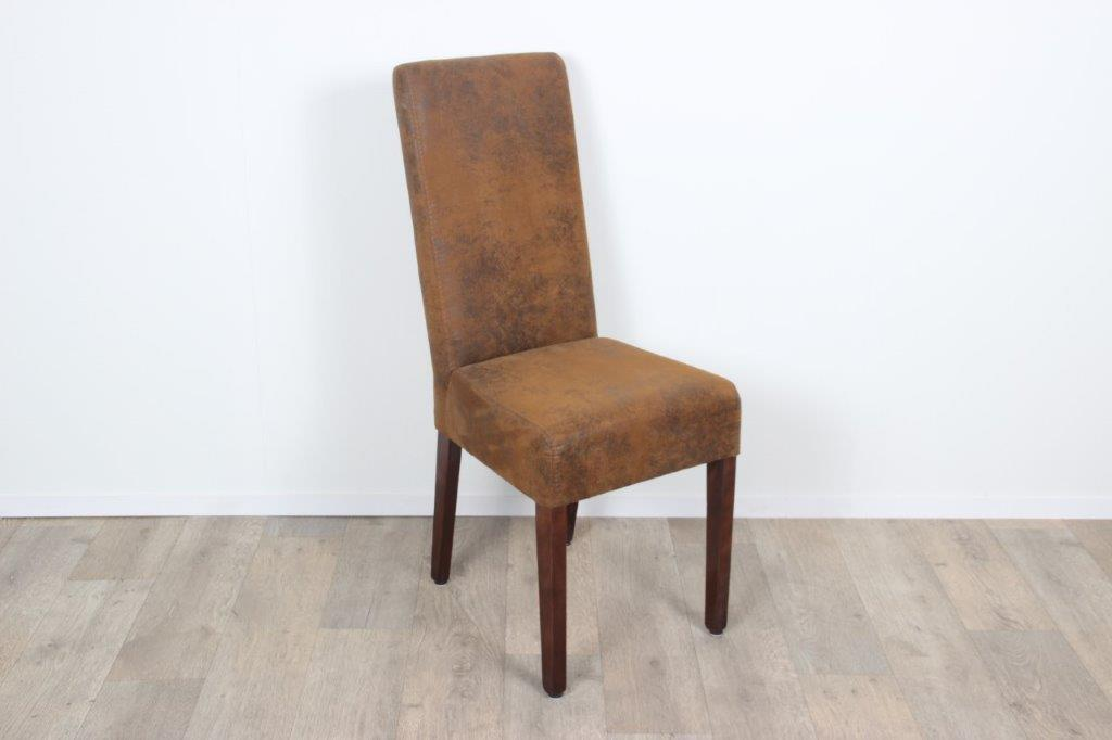 Leren eettafel stoelen best kopen eettafel stoelen for Eettafel stoelen cognac