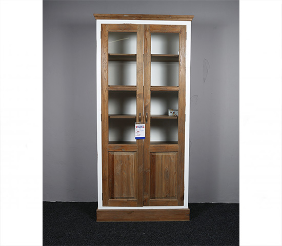Display Cabinet Teak Wood Jessie Old Scotch Narrow
