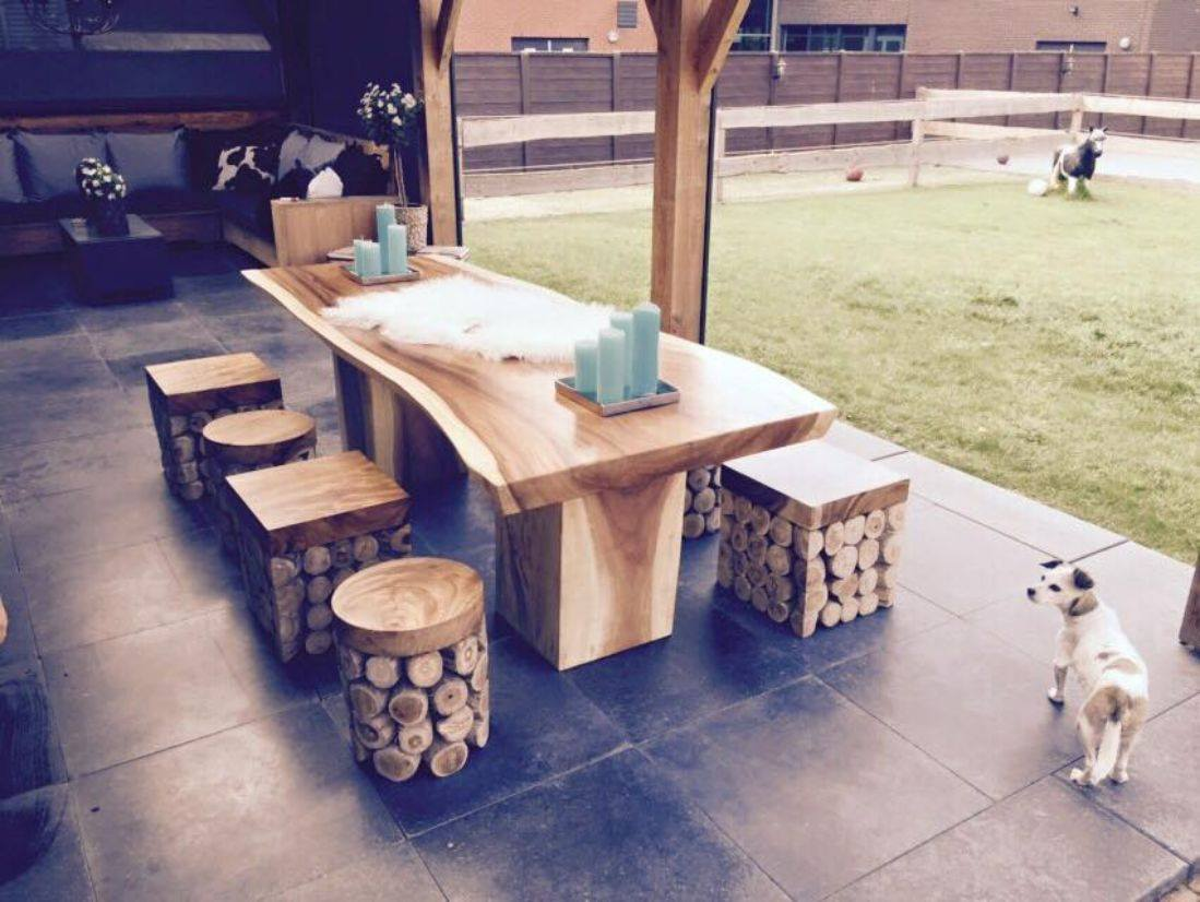 A table with the design of the nature: the Trunk table!