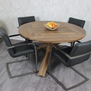 Round table made of Teak Wood