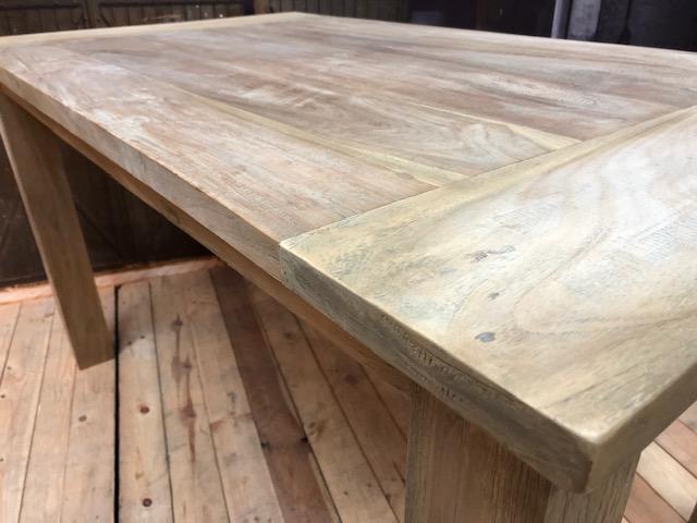 Eetkamertafel teak hout grote voorraad laagste prijs gratis