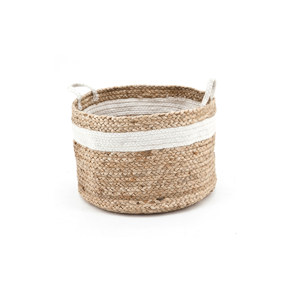 Basket Jute White By Boo