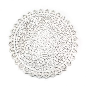 By Boo Wallflower round white