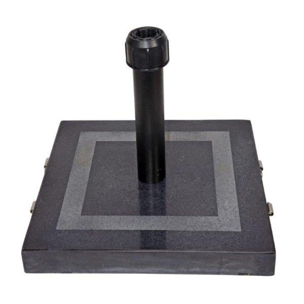 Parasolvoet graniet zwart 30 KG