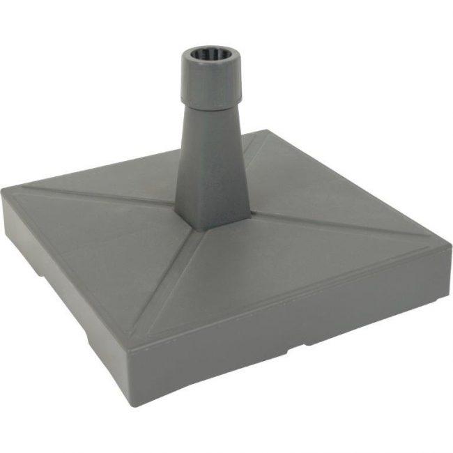Parasolvoet kunststof met beton antraciet 30 KG