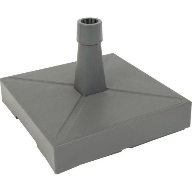 Parasolvoet kunststof met beton antraciet 40 KG