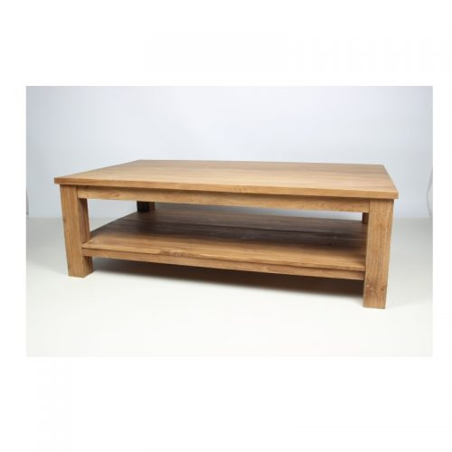 Teak coffee table with onderplank