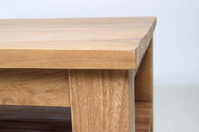 Teak salontafel met onderplank