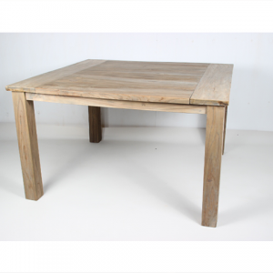 Square dining table old teak wood