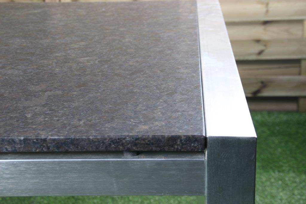 Granieten tuintafel alu frame
