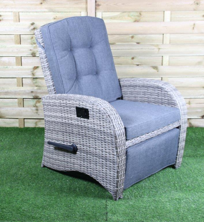 Loungechair Casablanca blanc gris à Waite XL