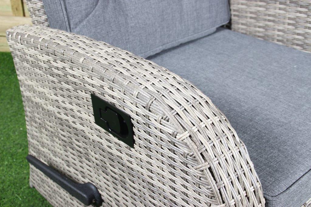 Loungechair Casablanca blanc gris à Waite XL
