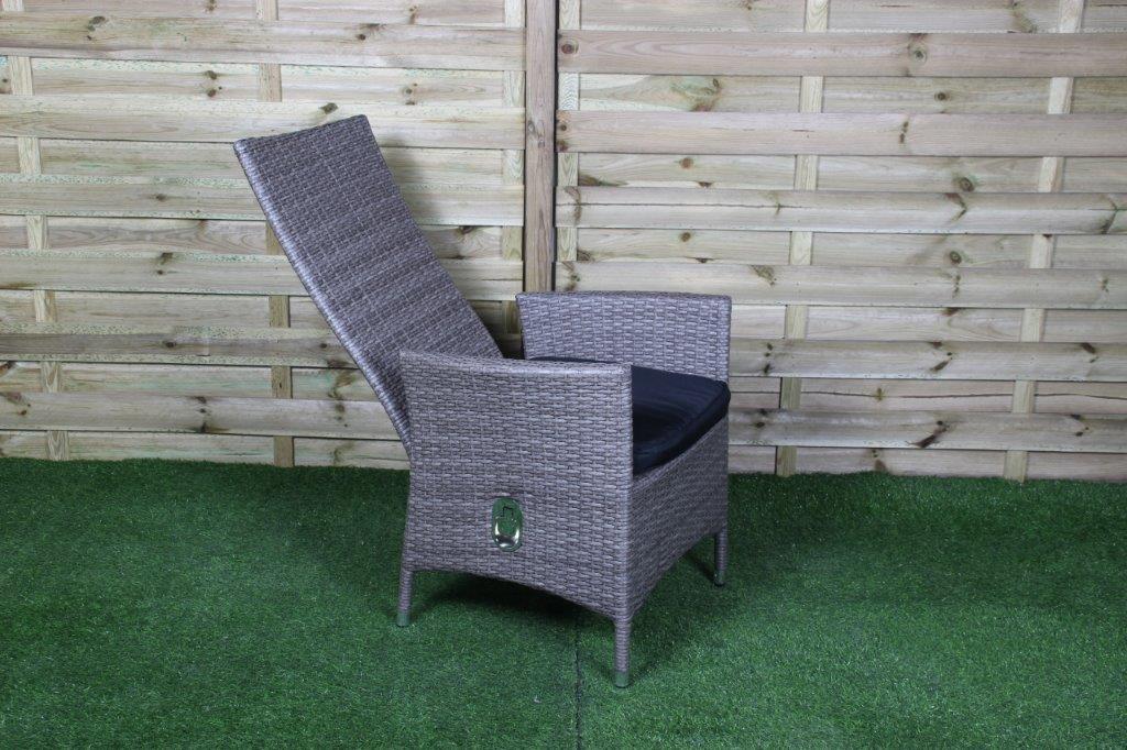 Chaise de jardin bali noir 5 - WiegersXL