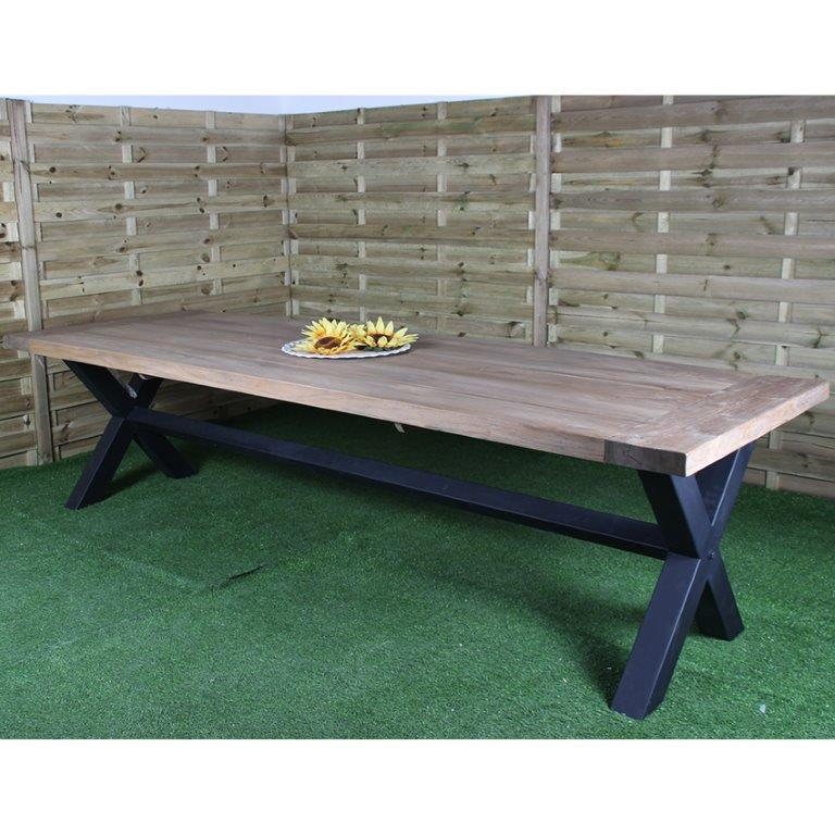 Teak Garden Tuinstoelen.Garden Table Industrial Solid Teak Wood Best Rates Wiegers Xl