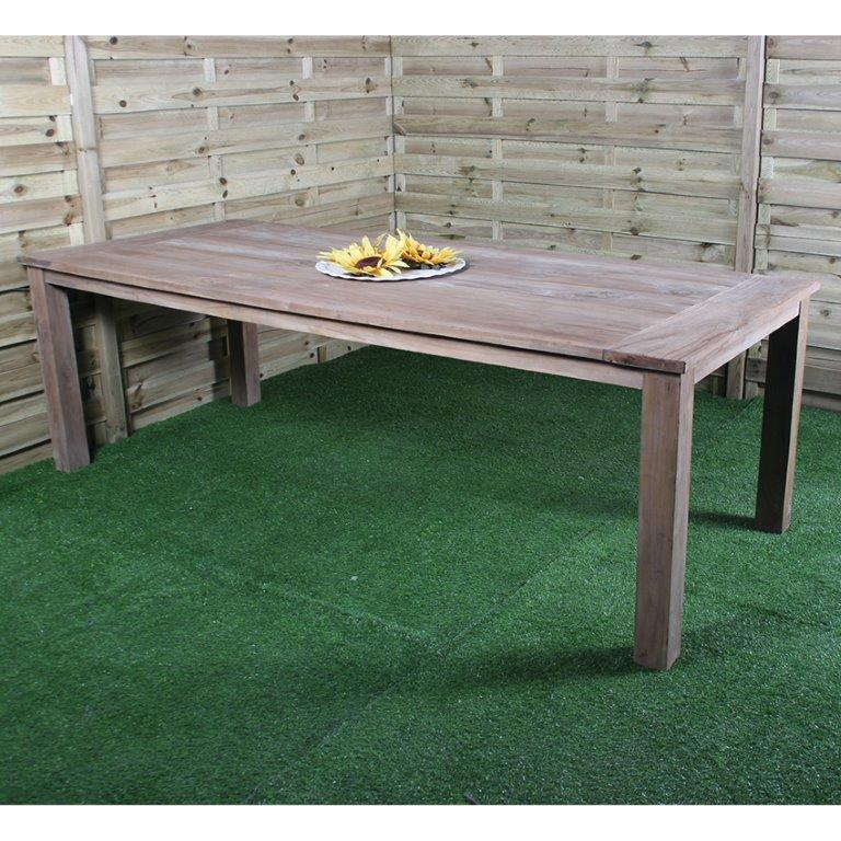 Table de jardin teck Romy | Meilleurs tarifs | Livraison à domicile ...