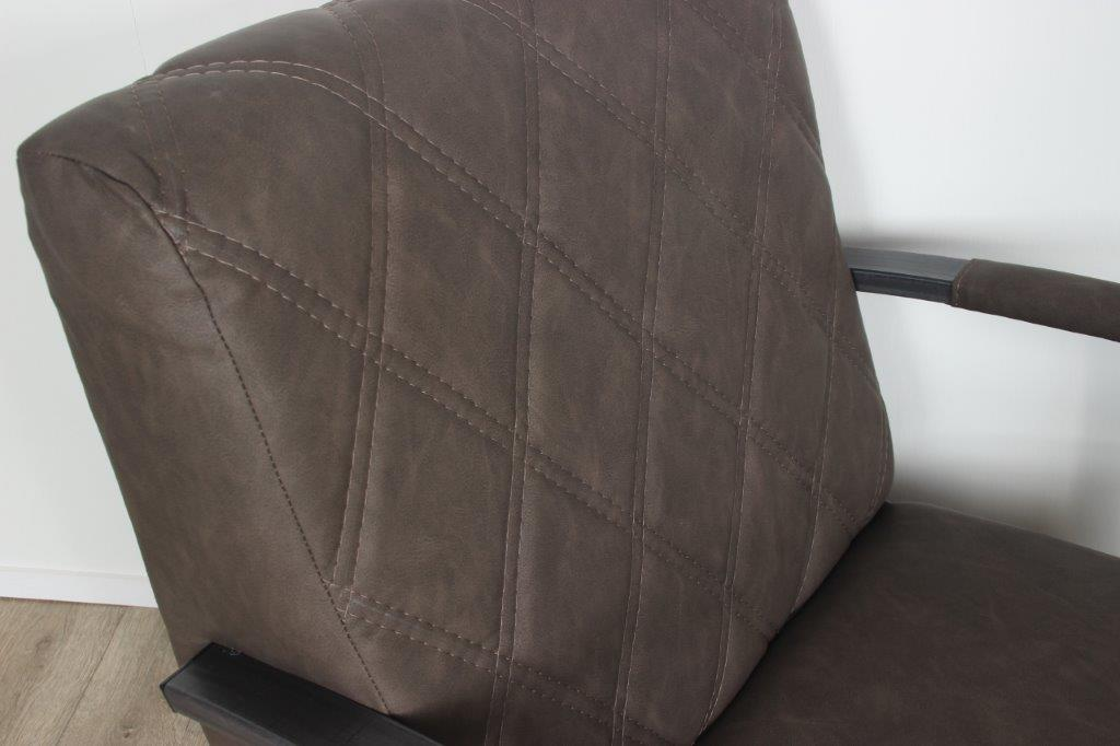 Fauteuil Frog 3 Vintage leer Taupe