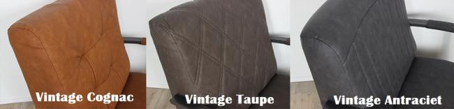 Vintage kleuren cognac taupe antraciet