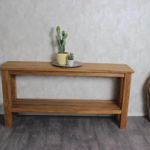 Teak wood side table, Pilot
