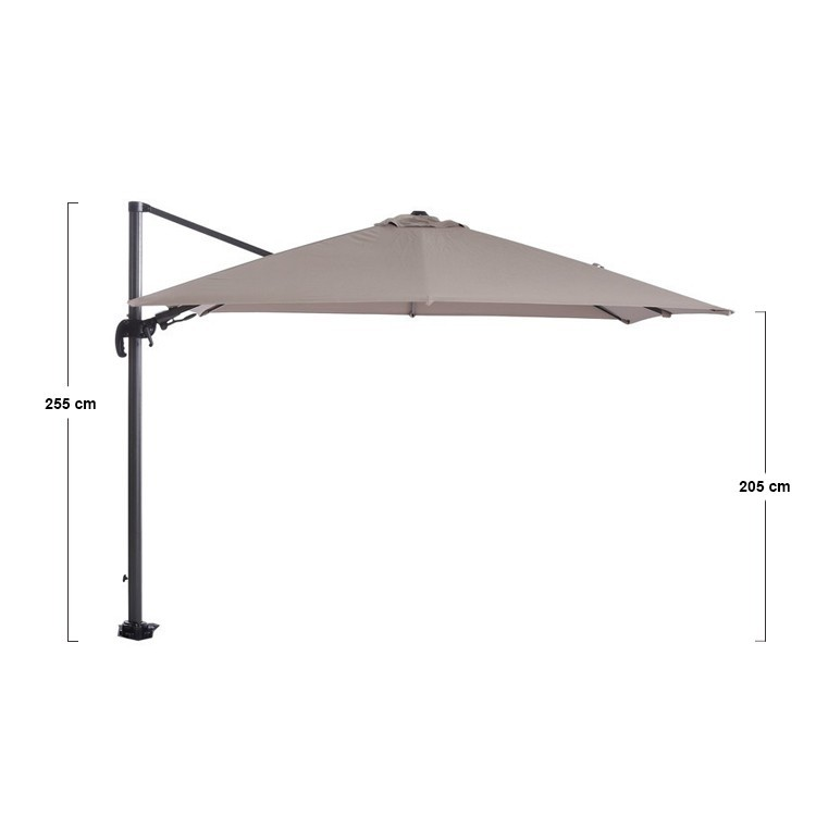 Hawaii parasol 300x300 Carbon Black -Taupe Garden Impressions 2