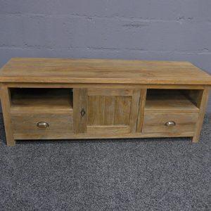 TV Kast Teak hout Grey Rustiek 145x50x50