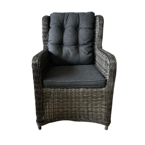 Tuinstoel King WGXL Collection - grijs en donkergrijs Wiegers XL