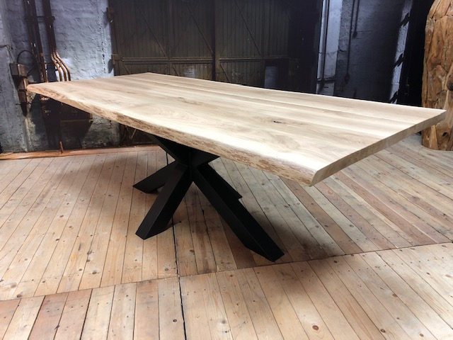 Table A Manger Tronc En Bois De Chene Table De Tronc D Arbre De
