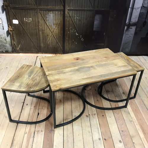 3-piece side table Iron