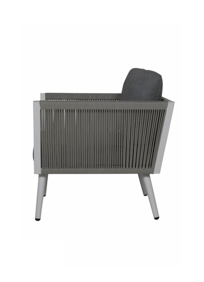 2 Loungestoelen Met Tafeltje.Loungeset Brasilia Rope
