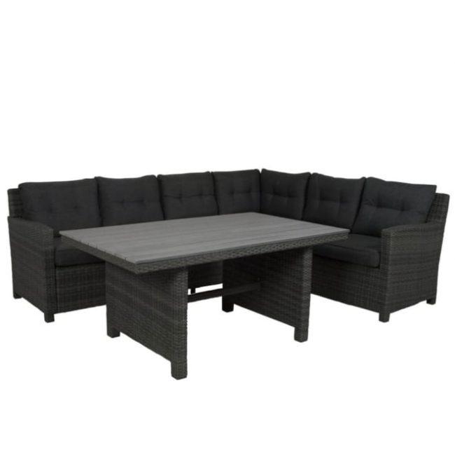 Luna loungeset inclusief 2 hockers en tafel - Gegarandeerd de laagste prijs