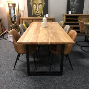 Dining Table Iron Acacia wood