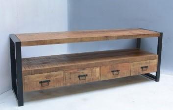 tv meubel iron groot mangohout