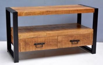 tv meubel iron klein mangohout