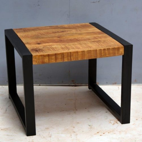 Side Table Iron Mango Wood