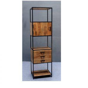 Bookcase Iron Mango Wood