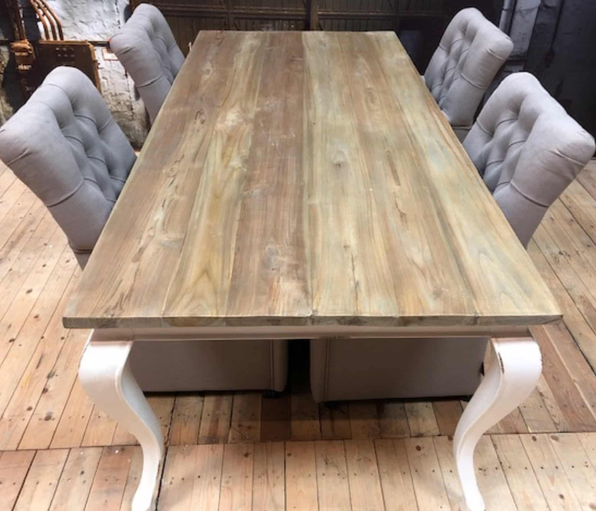 The difference between new and recycled teak wood