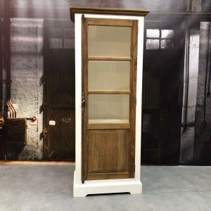 armoire en verre didi petit bois de teck