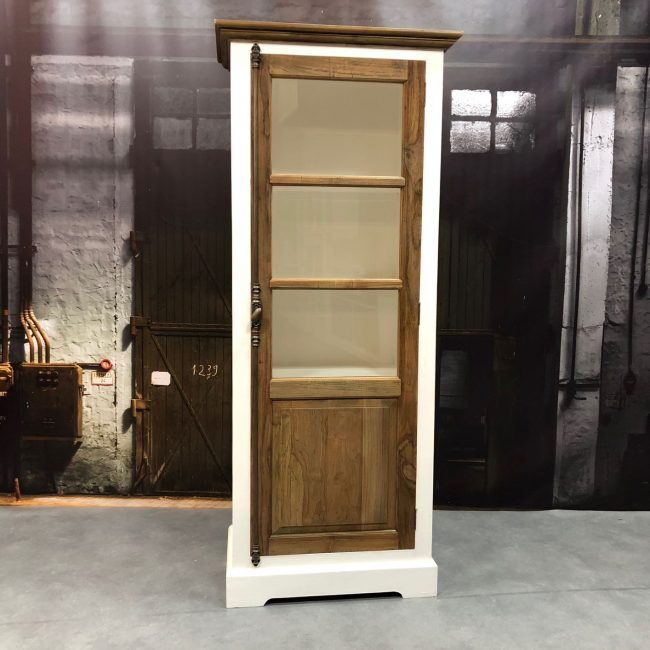 glass cabinet didi small teak wood