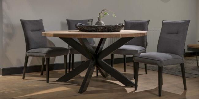 Eettafel Robin - Acaciahout - Rond 150 cm - UrbanSofa