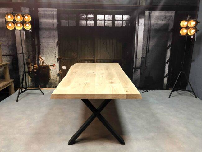 Boomstamtafel met eikenboomblad XL edge 6 cm Wiegers XL