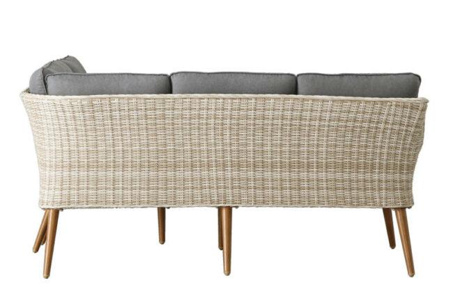 Complete loungeset Selma - Wicker afgewerkt in de kleur zand