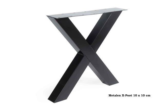 Metalen X-Poot 10 x 10
