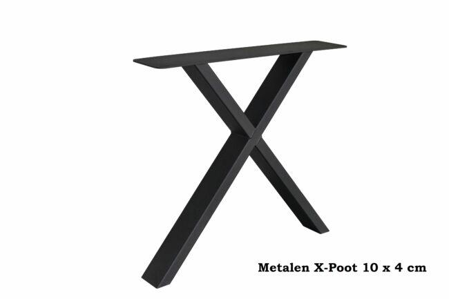 Metalen X-Poot 10 x 4