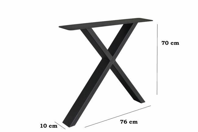 Metalen X-Poot 10 x 4 Afmetingen