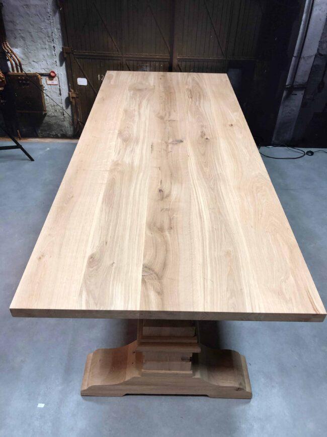 Onbehandeld Eikenhouten tafelblad - Keuze uit verschillende onderstellen