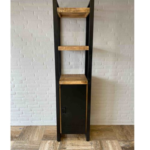 1 Door Bookshelf Iron Mangohout