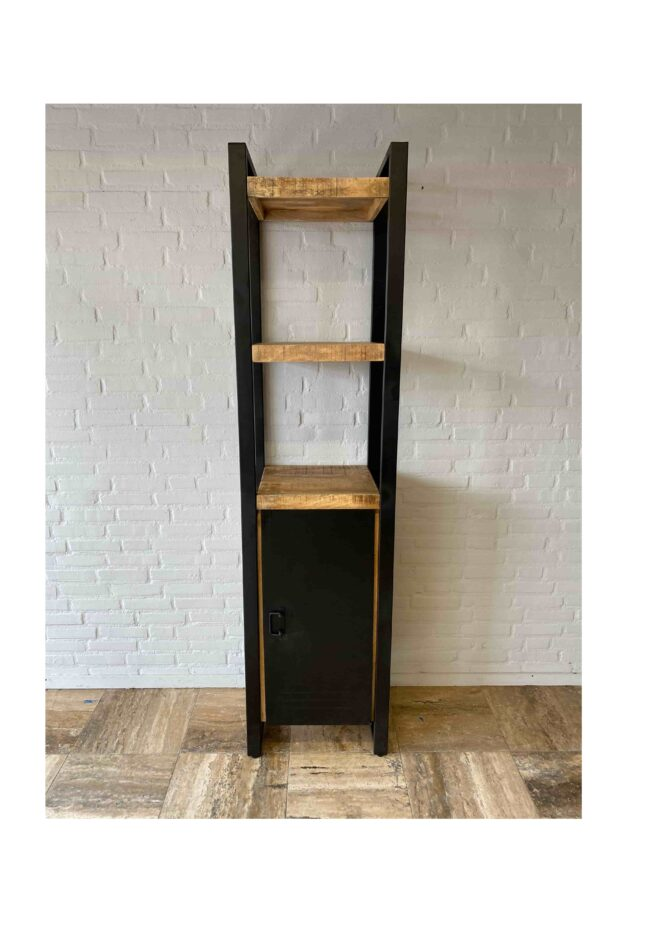 1 Door Bookshelf Iron Mangohout