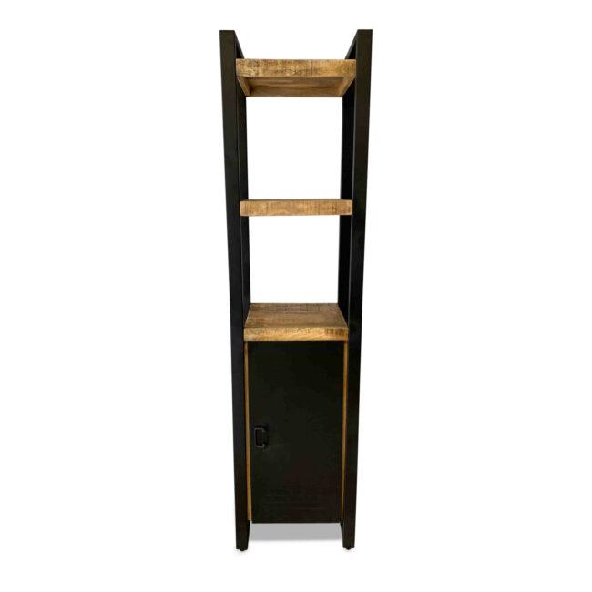 Boekenkast 1-deurs Iron Mangohout - 1deurs - Wiegers Xl