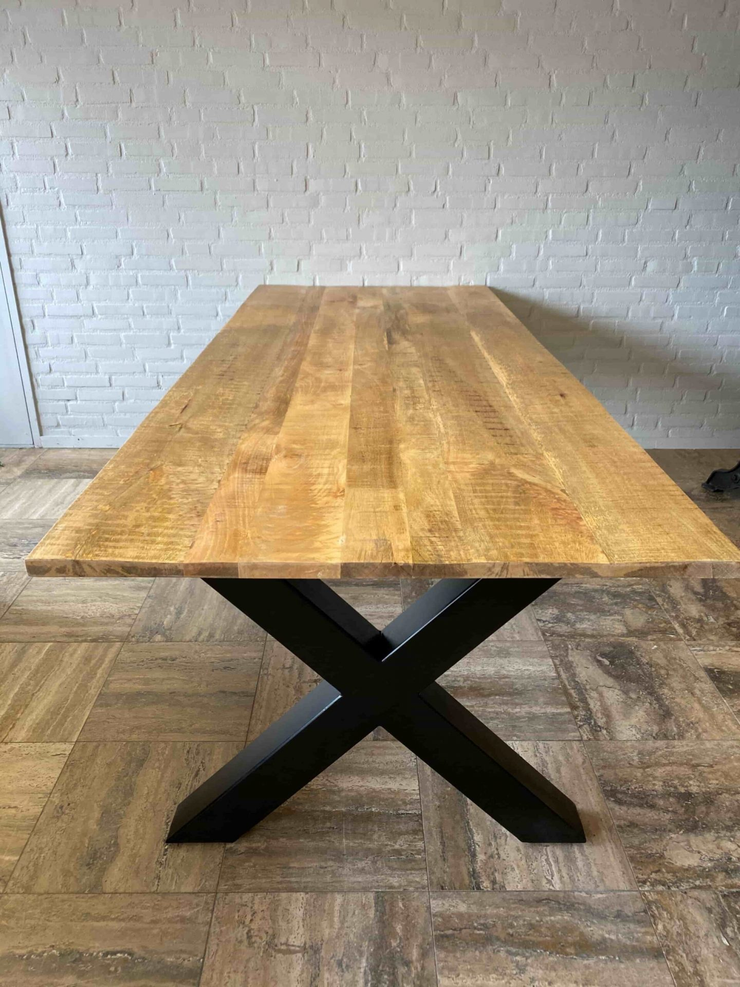 Dining Table Iron Mangowood Rectangular Different Dimensions