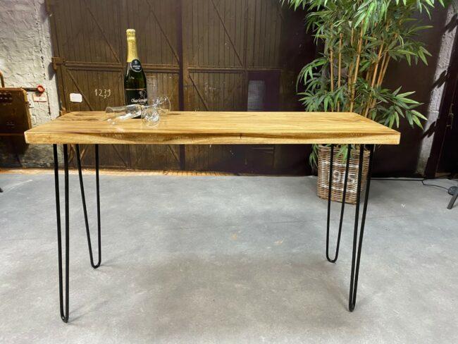Sidetable gemaakt met suarhouten tafelblad - Wiegers XL