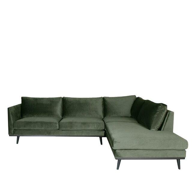LABEL51 Hoekbank Siena - Army green - Fluweel - 2
